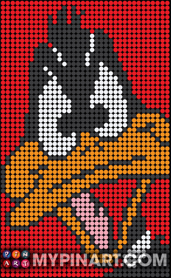 Pushpin Art Daffy Duck