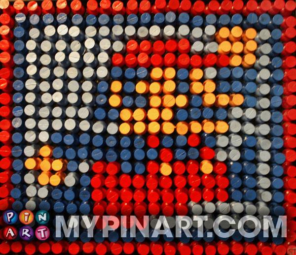 Pushpin Art Mario