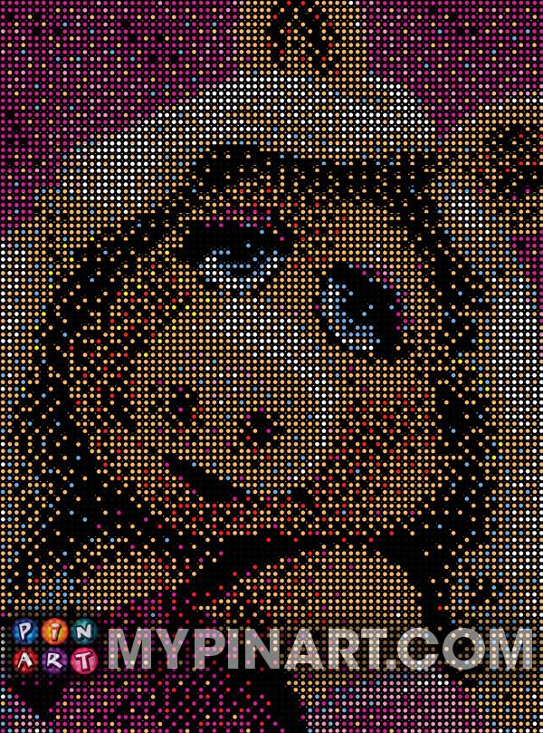 Pushpin Art Miss Piggy Muppet Babies