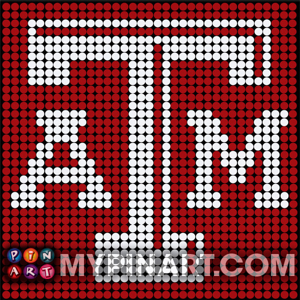 Texas A&M pushpin art