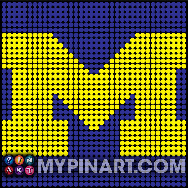 University of Michigan pushpin art