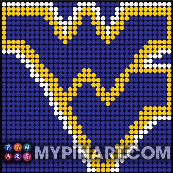 Pushpin Art West Virginia University