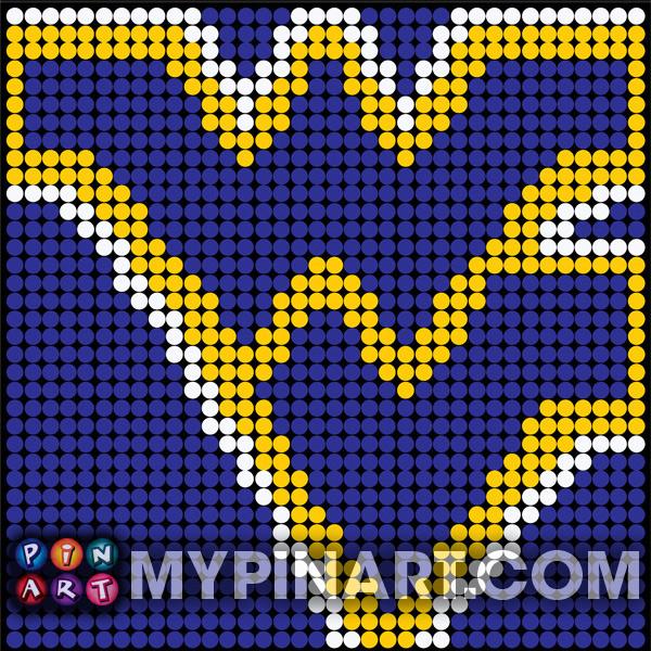 West Virginia University pushpin art