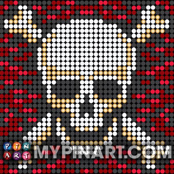 Pirates pushpin design art