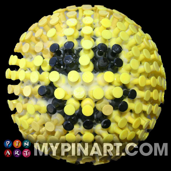 Smile happy pushpin design art