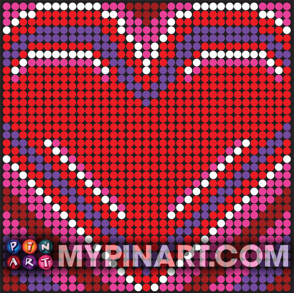 Heart pushpin design art