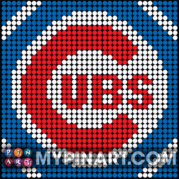 Pushpin Art Chicago Cubs