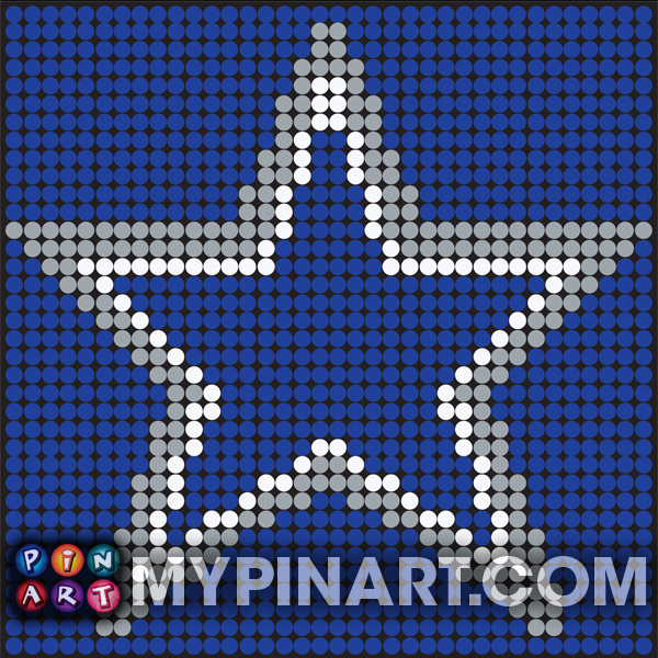 Pushpin Art Dallas Cowboys
