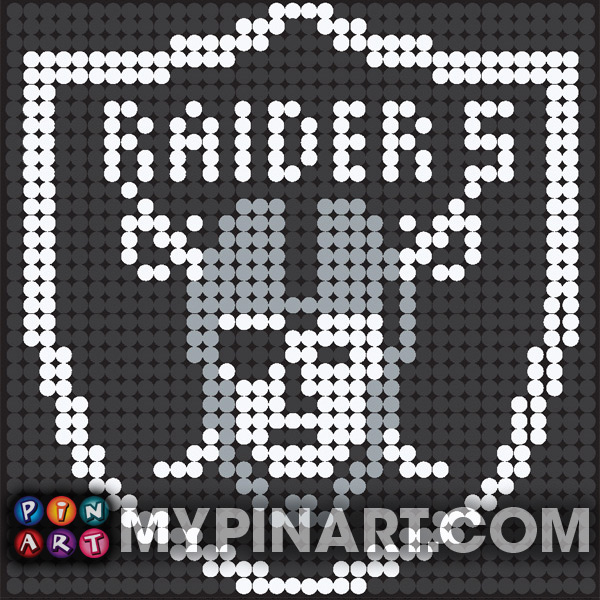 Pushpin Art Oakland Raiders