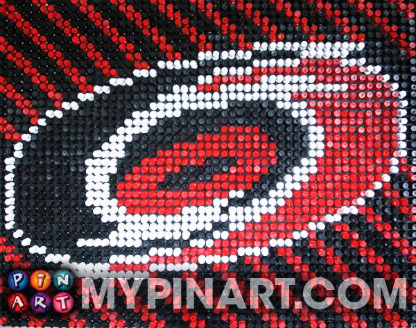 Pushpin Art Carolina Hurricanes