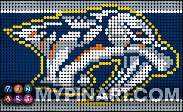 Pushpin Art Nashville Predators