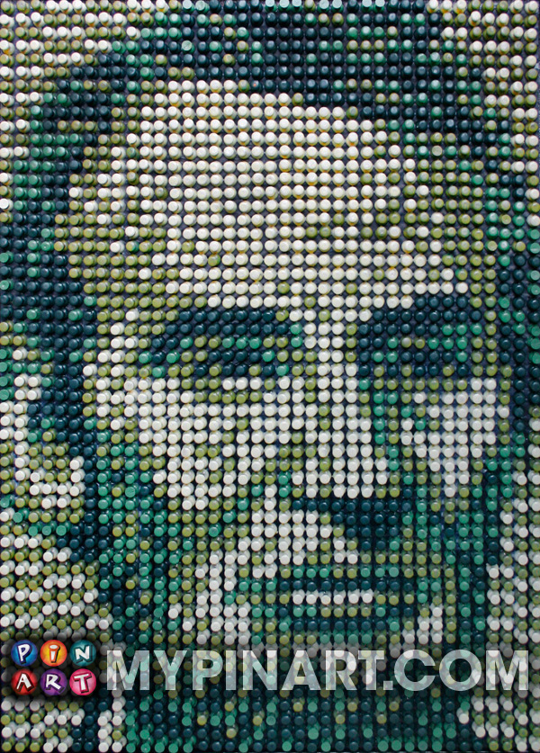 Pushpin Art Abraham Lincoln