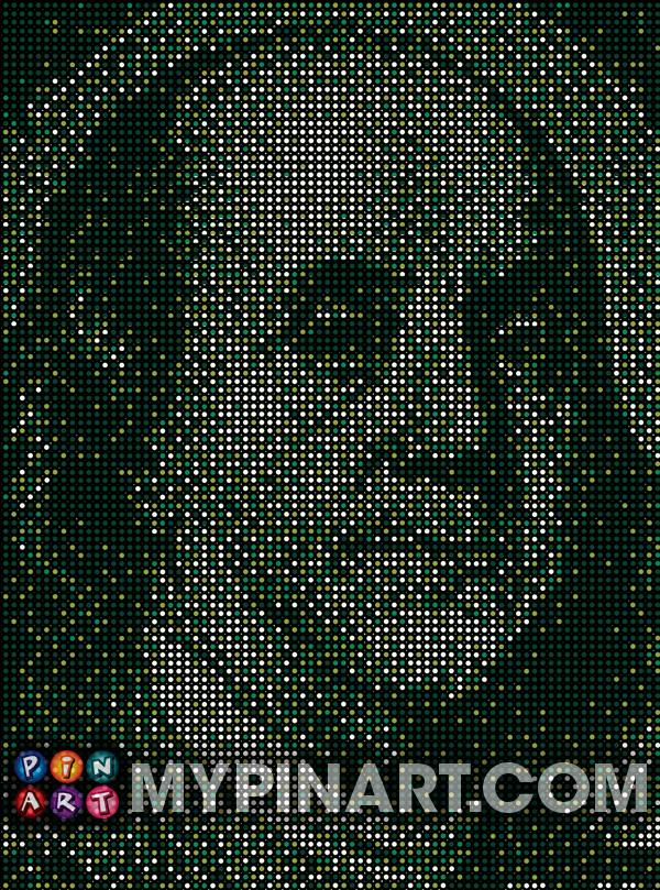 Pushpin Art Ben Franklin
