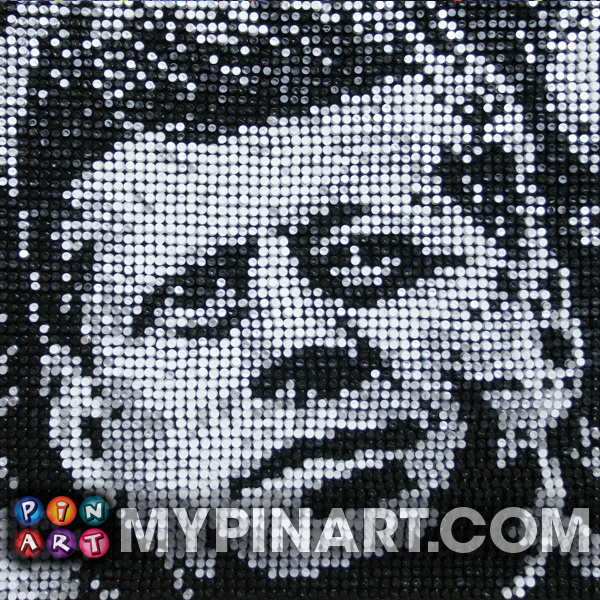 John F Kennedy pin art