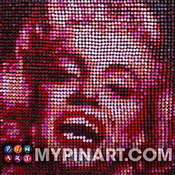 Pushpin Art Marilyn Monroe