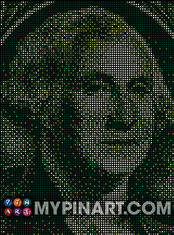 Pushpin Art George Washington